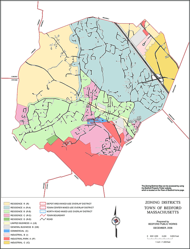Bedford MA Zoning Map